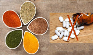 Spices are not as effective as prescription medication