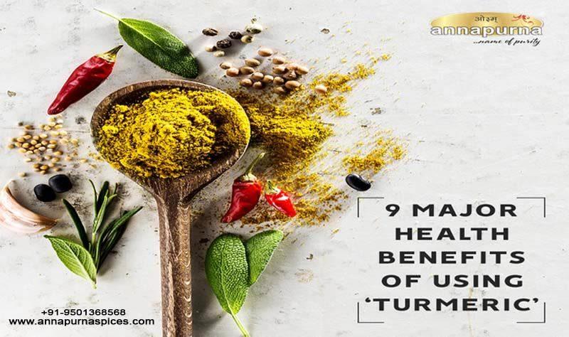 9 Major Health benefits of using Turmeric